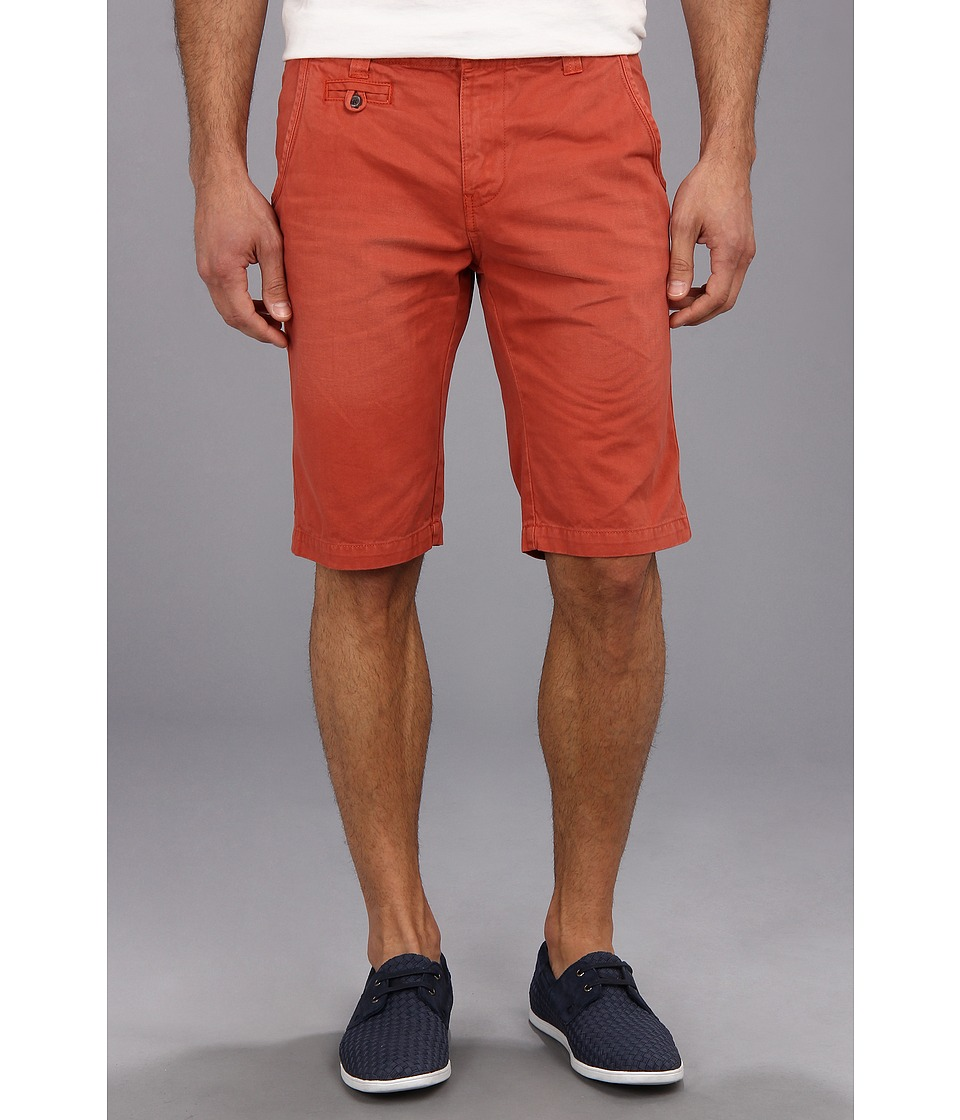 Seven7 Jeans - Twill Flat Front Short (Watermelon) Men's Shorts