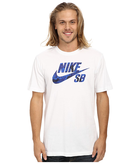Nike SB - SB Dri-Fit Icon Marsh Tee (White/White/White/Obsidian) Men