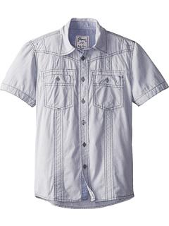 SALE! $17.99 - Save $12 on Request Kids Pitt Woven S S Shirt (Big Kids) (Light Grey) Apparel - 40.03% OFF $30.00