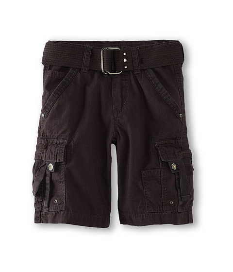 Request Kids - Sumer Twill Shorts (Little Kids) (Charcoal) Boy's Shorts