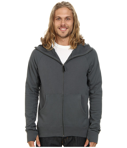 Nike SB - SB Everett Full-Zip Scuba Hoodie (Bomber Grey) Men