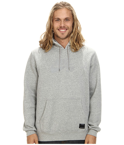 Nike SB - SB Pullover Reflective Icon Hoodie (Dark Grey Heather/Reflective Silver) Men