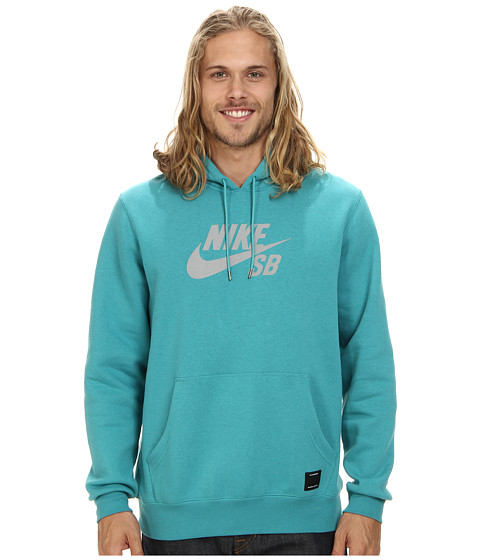 Nike SB - SB Pullover Reflective Icon Hoodie (Catalina/Reflective Silver) Men's Sweatshirt