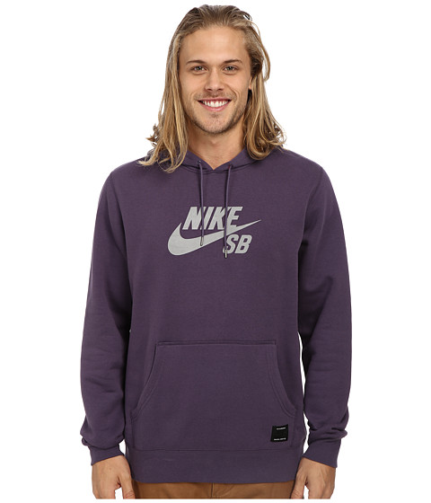 Nike SB - SB Pullover Reflective Icon Hoodie (Dark Raisin/Reflective Silver) Men