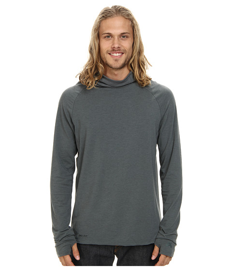 Nike SB - SB Dri-Fit Skyline L/S Scuba Knit (Bomber Grey) Men's Long Sleeve Pullover