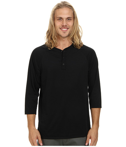 Nike SB - SB Dri-Fit 3/4-Sleeve Henley (Black/Black) Men