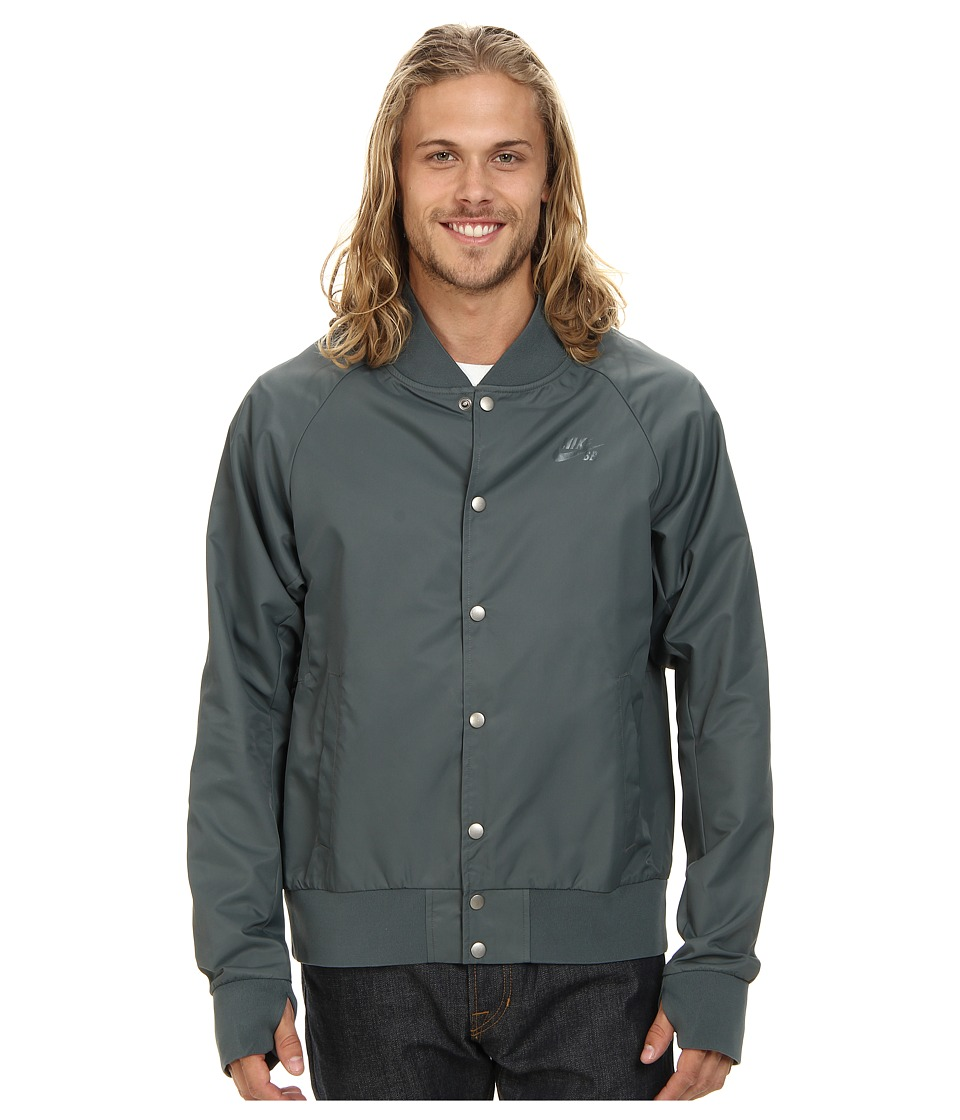 Nike SB - SB Davis Satin Bomber (Bomber Grey) Men's Coat