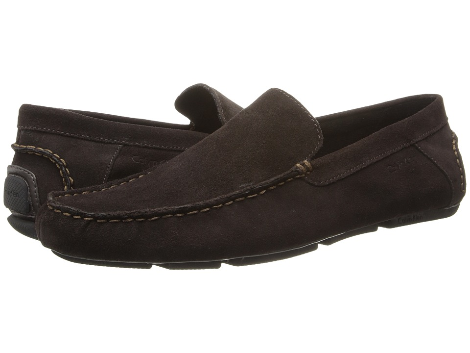 Calvin Klein - Menton (Brown Suede) Men's Slip on Shoes