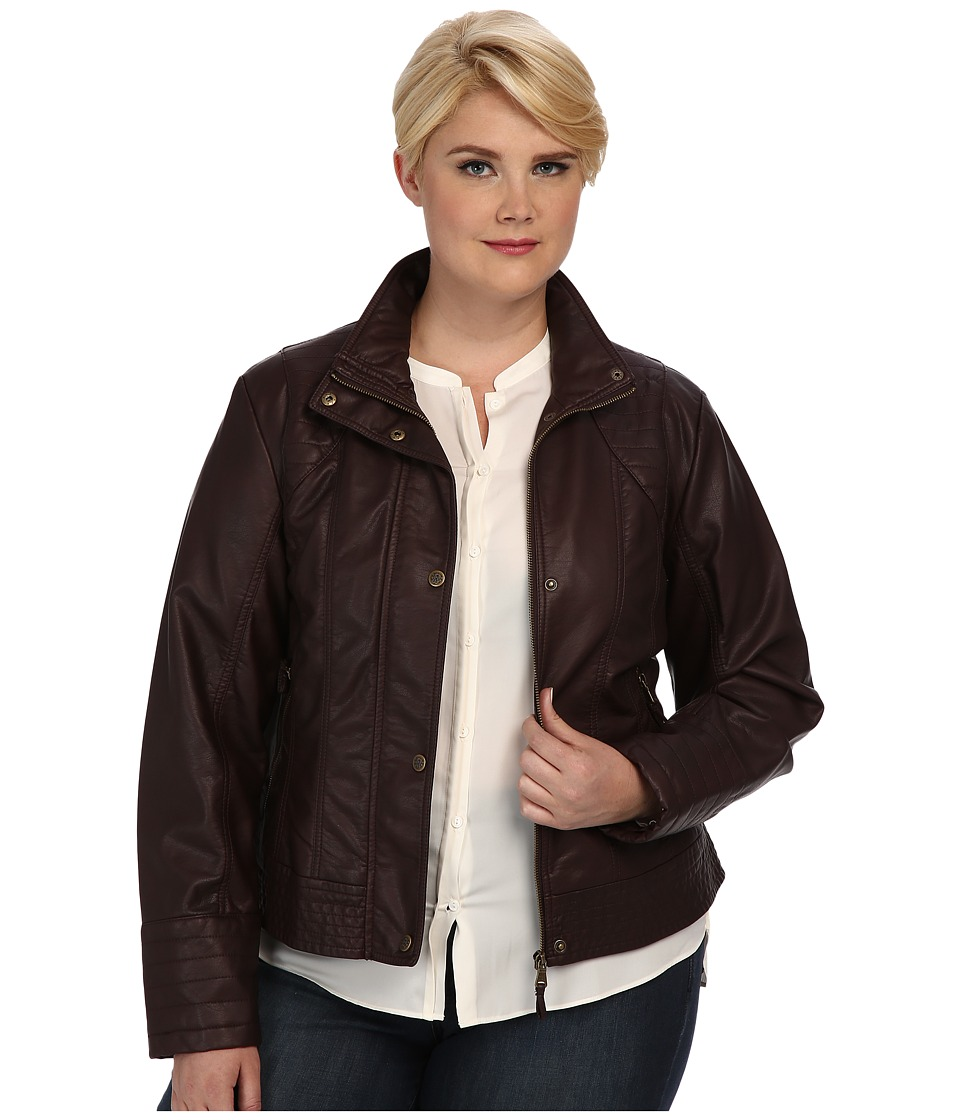 Jessica Simpson - Plus Size JOFWU193 Jacket (Mahogany) Women