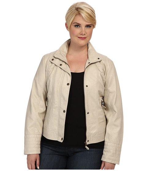 Jessica Simpson - Plus Size JOFWU193 Jacket (Stone) Women