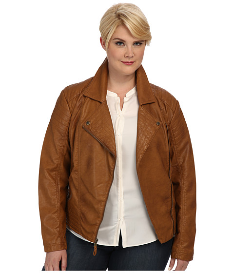 Jessica Simpson - Plus Size JOFWU691 Jacket (Tan) Women's Coat