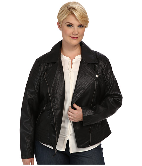 Jessica Simpson - Plus Size JOFWU691 Jacket (Black) Women's Coat