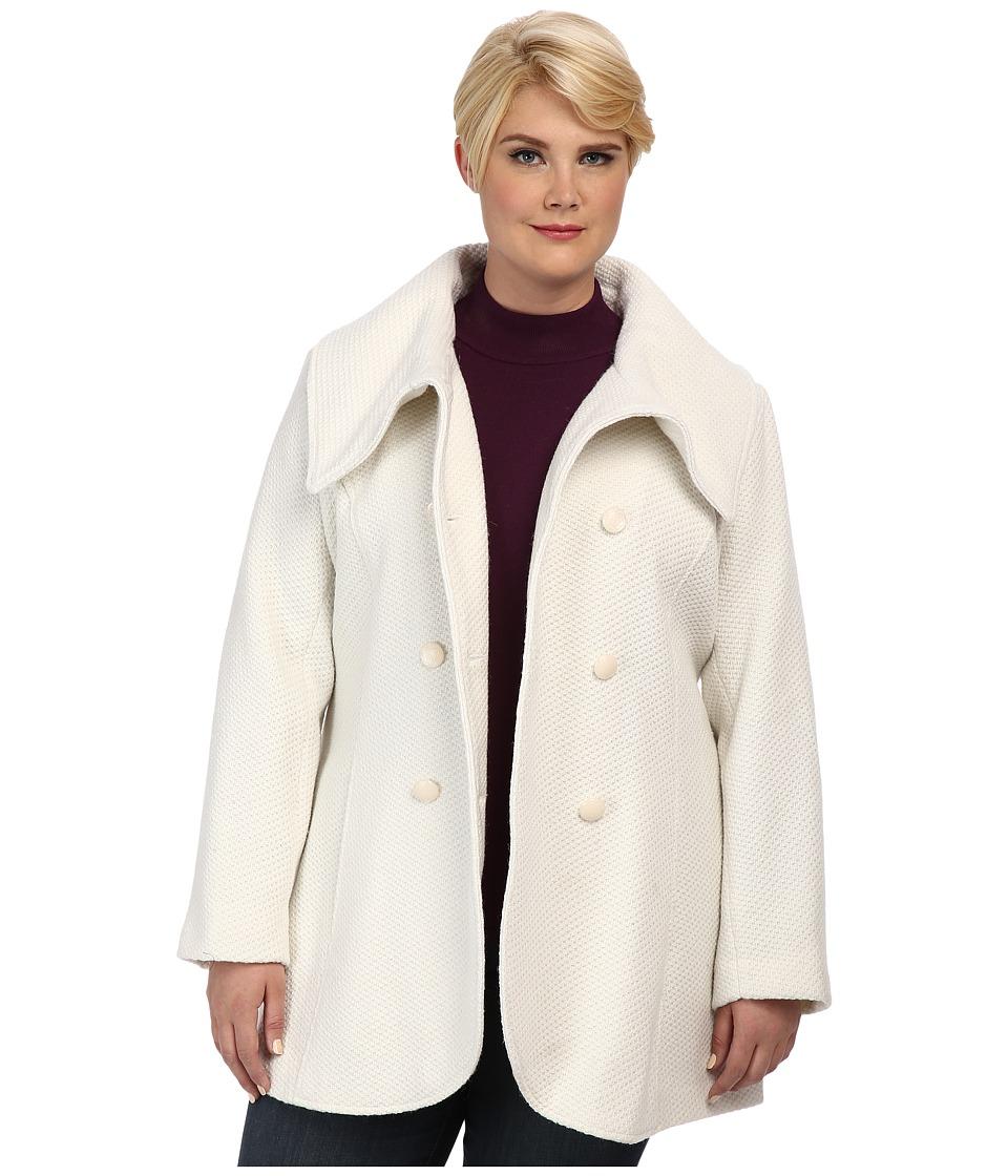 Jessica Simpson - Plus Size JOFWH763 Coat (Off White) Women