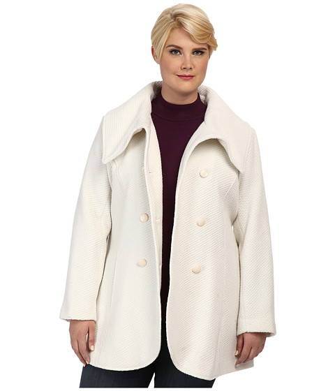 Jessica Simpson - Plus Size JOFWH763 Coat (Off White) Women