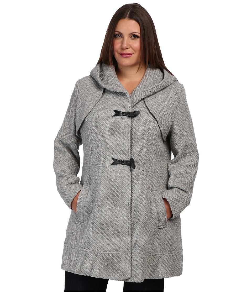 Jessica Simpson - Plus Size JOFWH025 Coat (Gray) Women's Coat plus size,  plus size fashion plus size appare