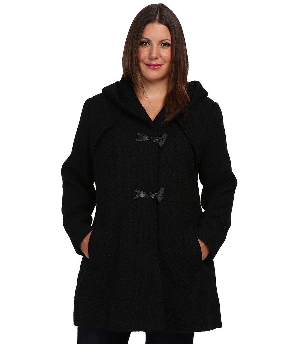 Jessica Simpson - Plus Size JOFWH025 Coat (Black) Women's Coat plus size,  plus size fashion plus size appare