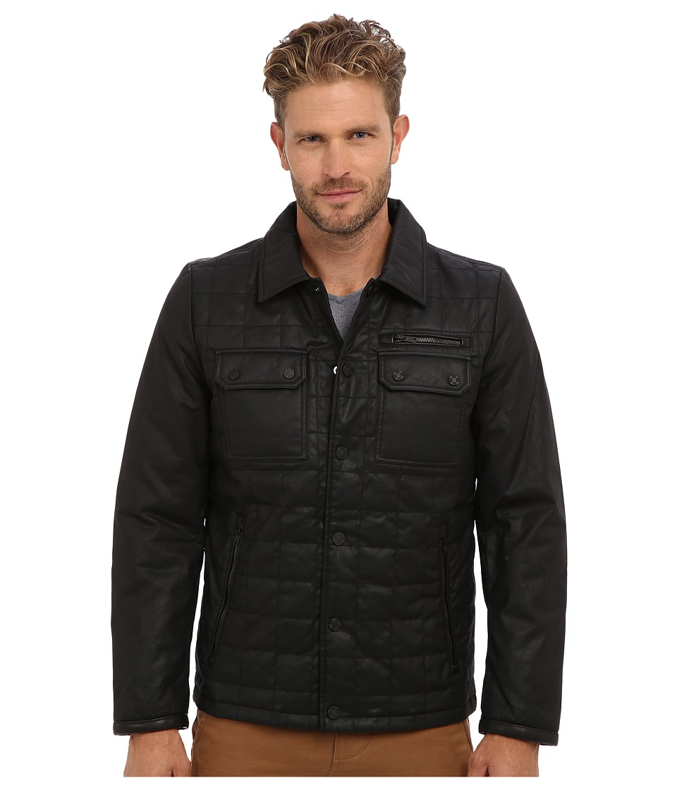 Vince Camuto - Carbon Coated Quilted Shirt Collar Jacket (Black) Men's Jacket