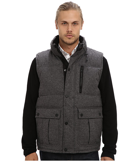 Vince Camuto - Flannel Down Vest (Grey) Men
