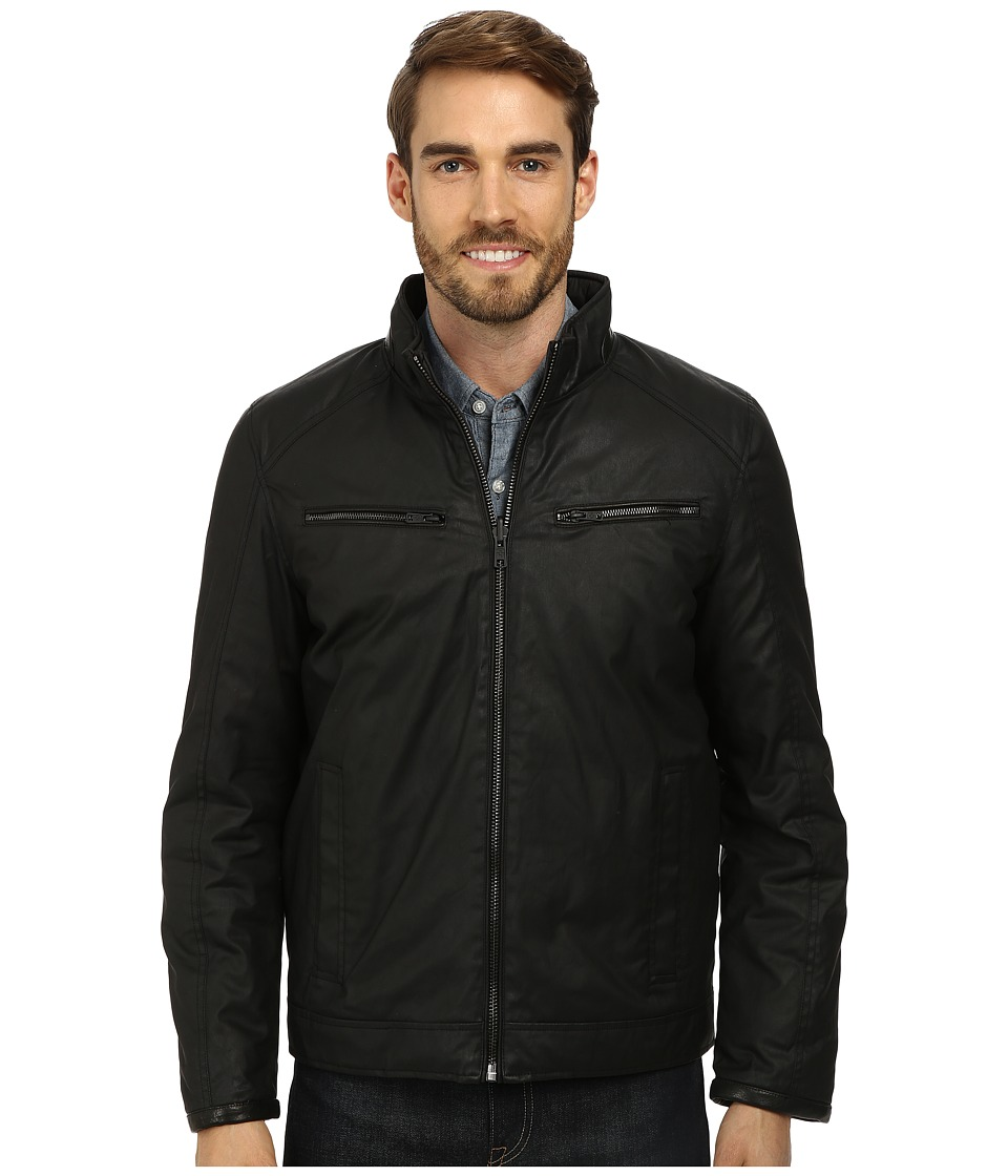 Vince Camuto - Cotton Coated Reversible To Quilted Down Jacket (Black) Men's Jacket