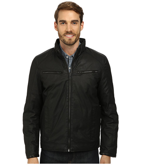 Vince Camuto - Cotton Coated Reversible To Quilted Down Jacket (Black) Men