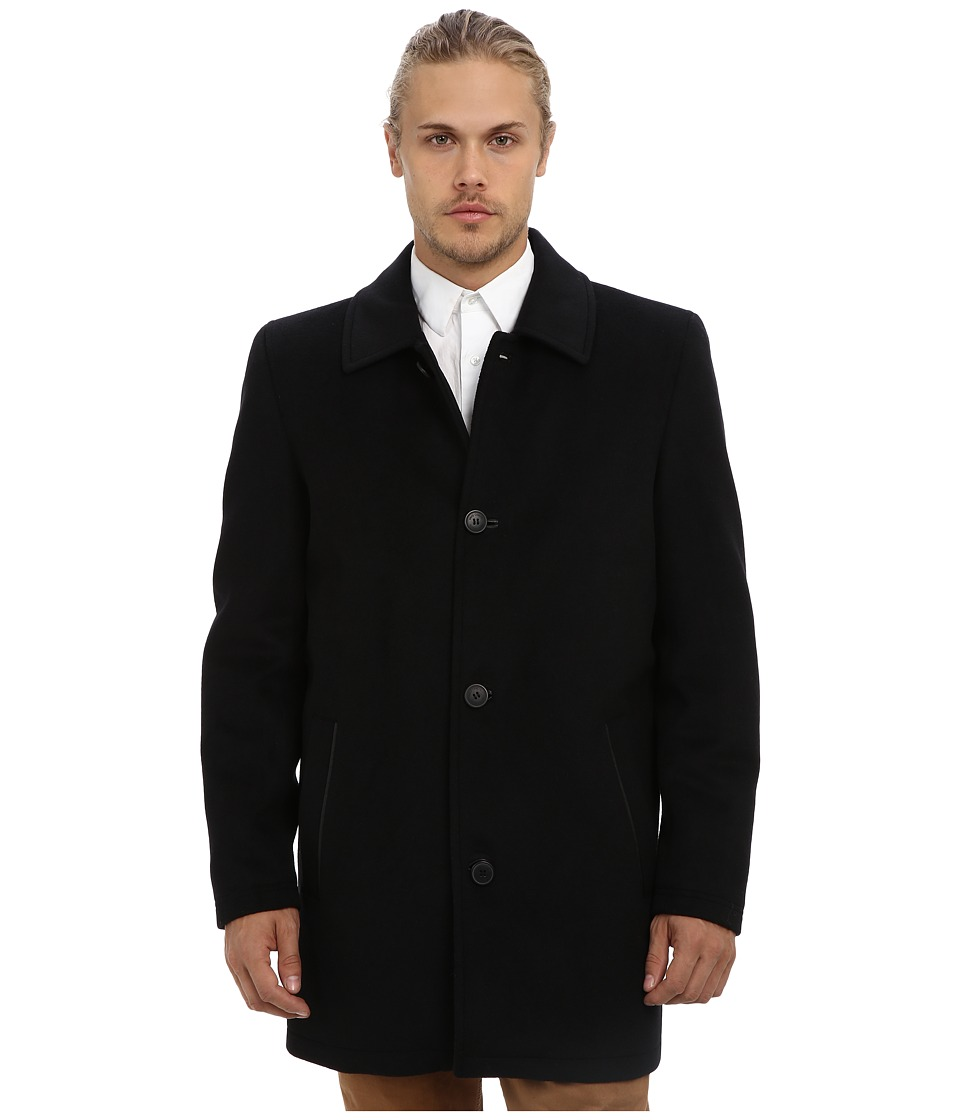 Vince Camuto - Storm System Wool Melton Carcoat (Black) Men's Coat