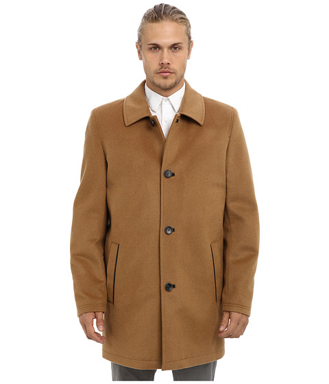 Vince Camuto - Storm System Wool Melton Carcoat (Camel) Men's Coat