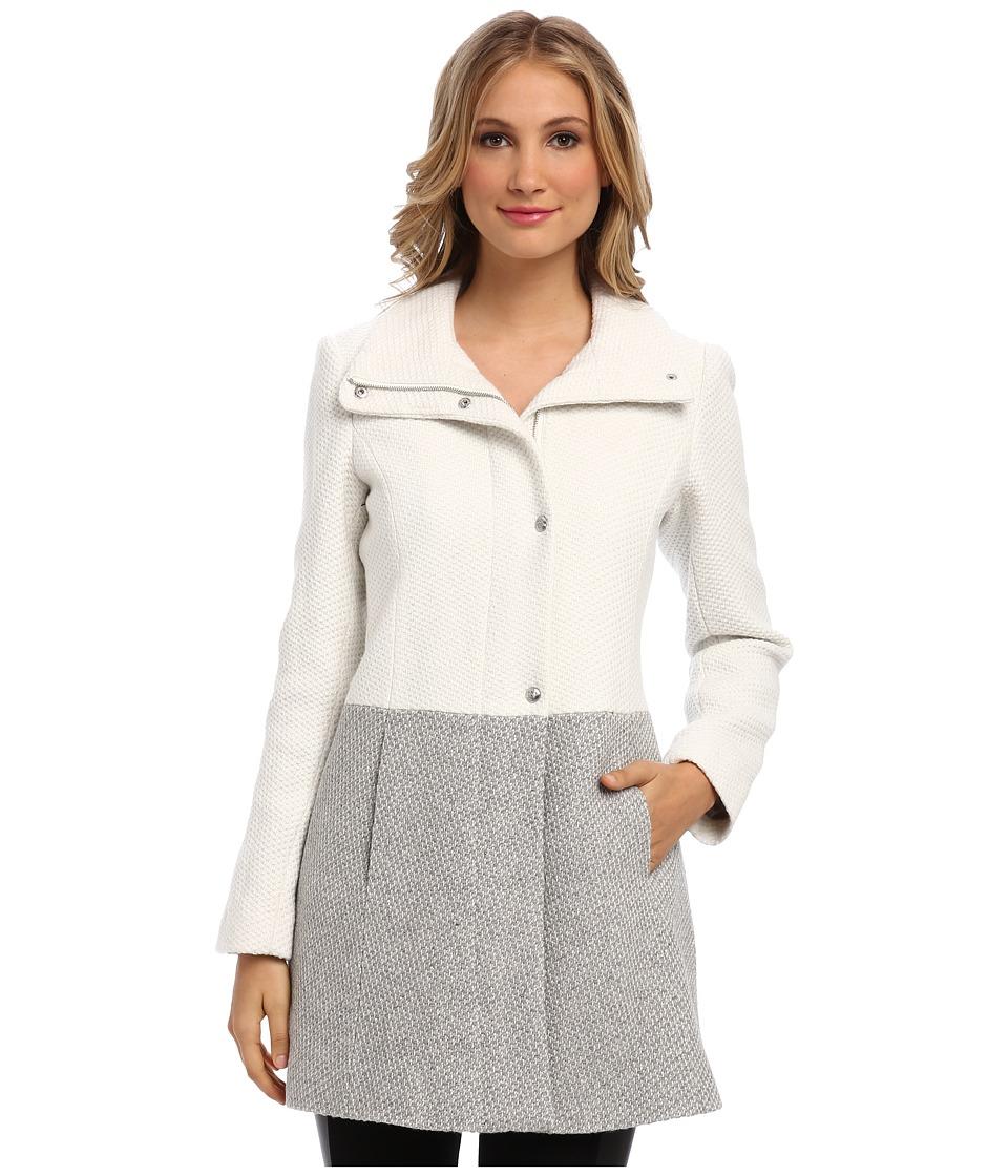 Jessica Simpson - JOFMH844 Coat (Off White/Gray) Women's Coat