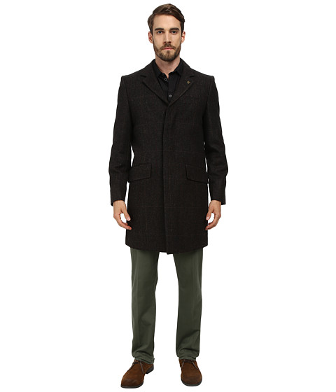 Vince Camuto - Shetland Wool Top Coat (Brown) Men's Coat