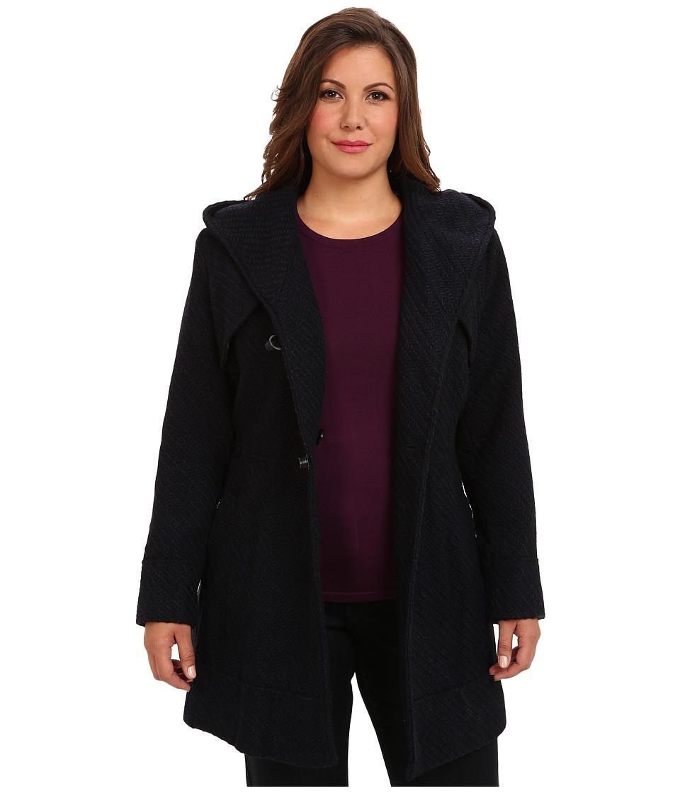 Jessica Simpson - Plus Size JOFWH025 Coat (Navy) Women's Coat plus size,  plus size fashion plus size appare