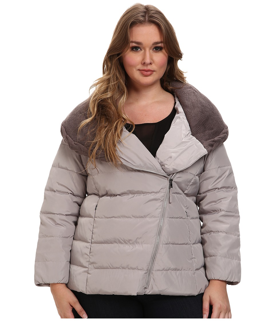 Jessica Simpson - Plus Size JOFWD771 Coat (Smoke) Women's Coat plus size,  plus size fashion plus size appare