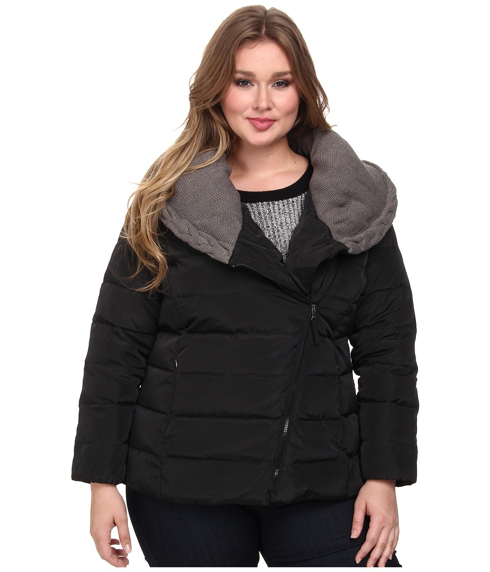 Jessica Simpson - Plus Size JOFWD771 Coat (Black) Women