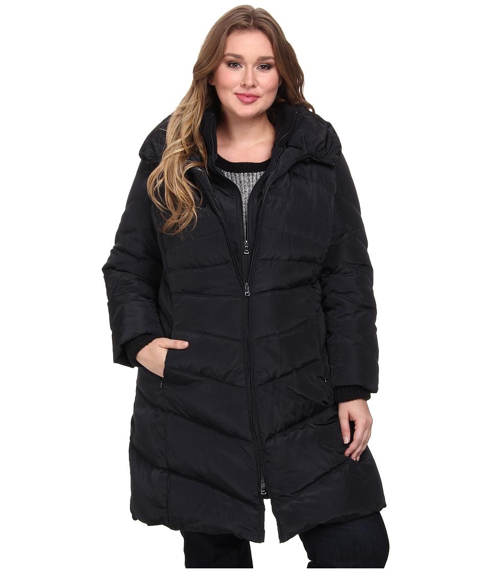 Jessica Simpson Plus Size JOFWD007 Coat (Navy) Women