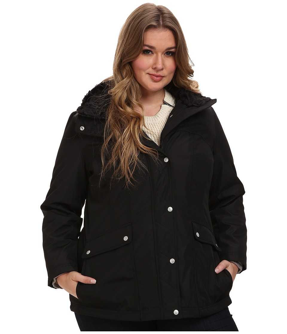 Jessica Simpson - Plus Size JOFWP841 Coat (Black) Women's Coat