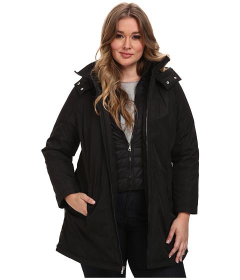 Jessica Simpson - Plus Size JOFWP741 Coat (Black) Women