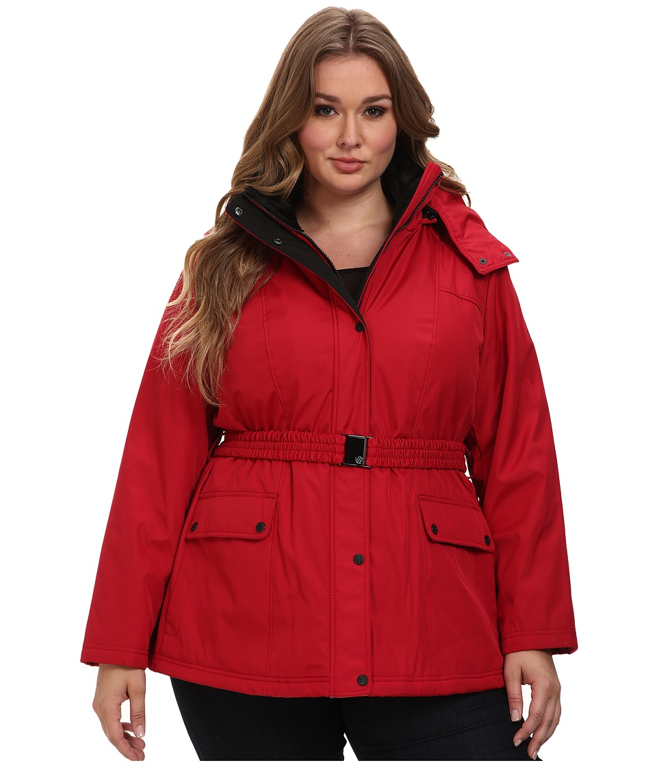 Jessica Simpson - Plus Size JOFWP114 Coat (Red) Women