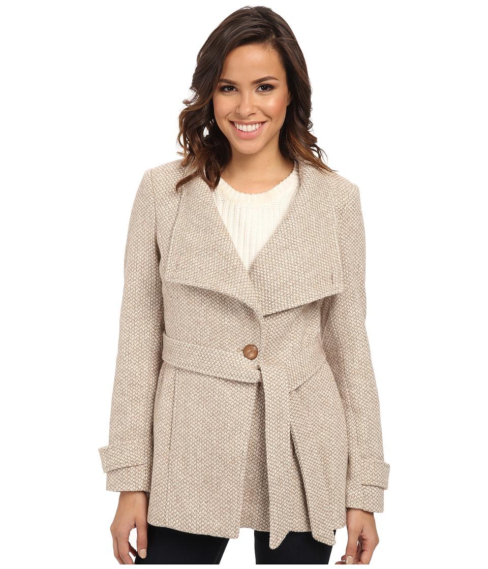 Jessica Simpson - JOFMA902 Coat (Natural Tweed) Women