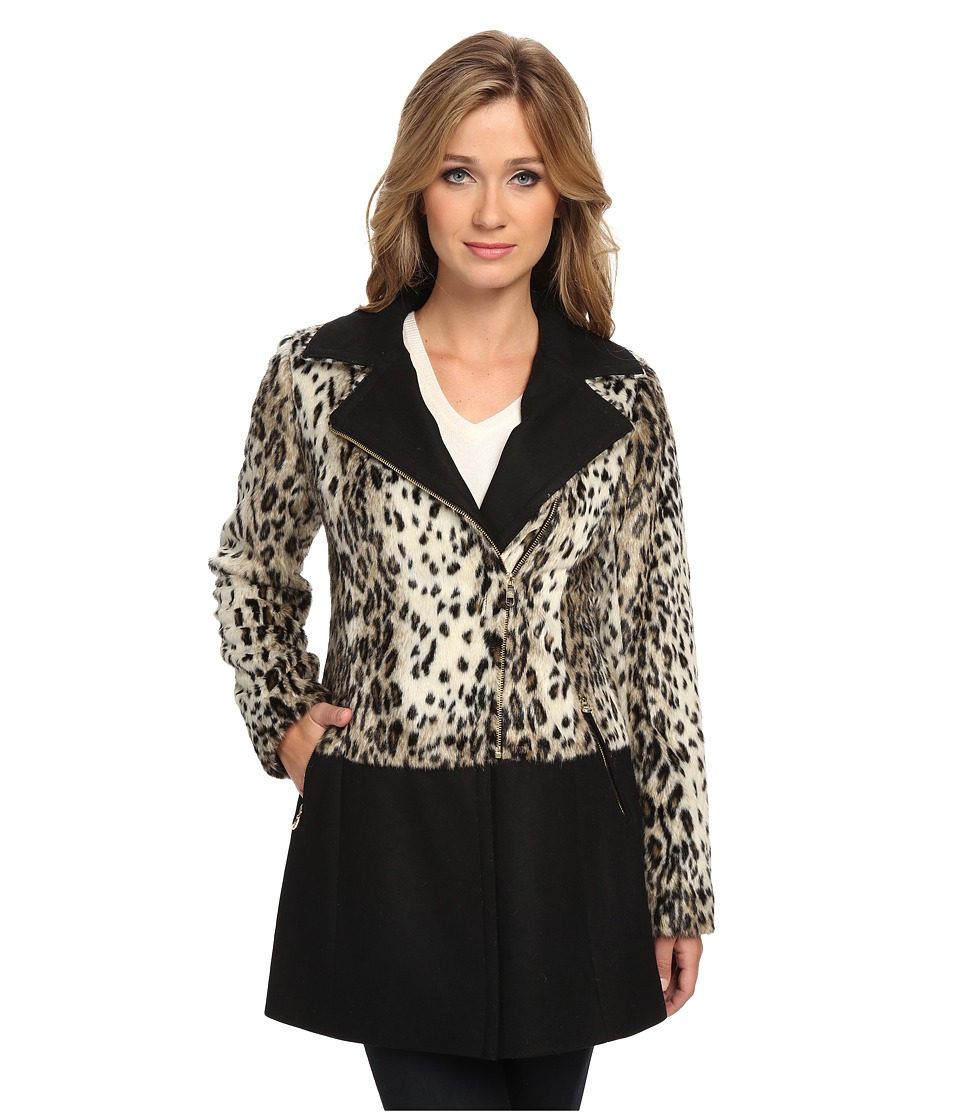 Jessica Simpson - JOFMF826 Coat (Leopard) Women's Coat