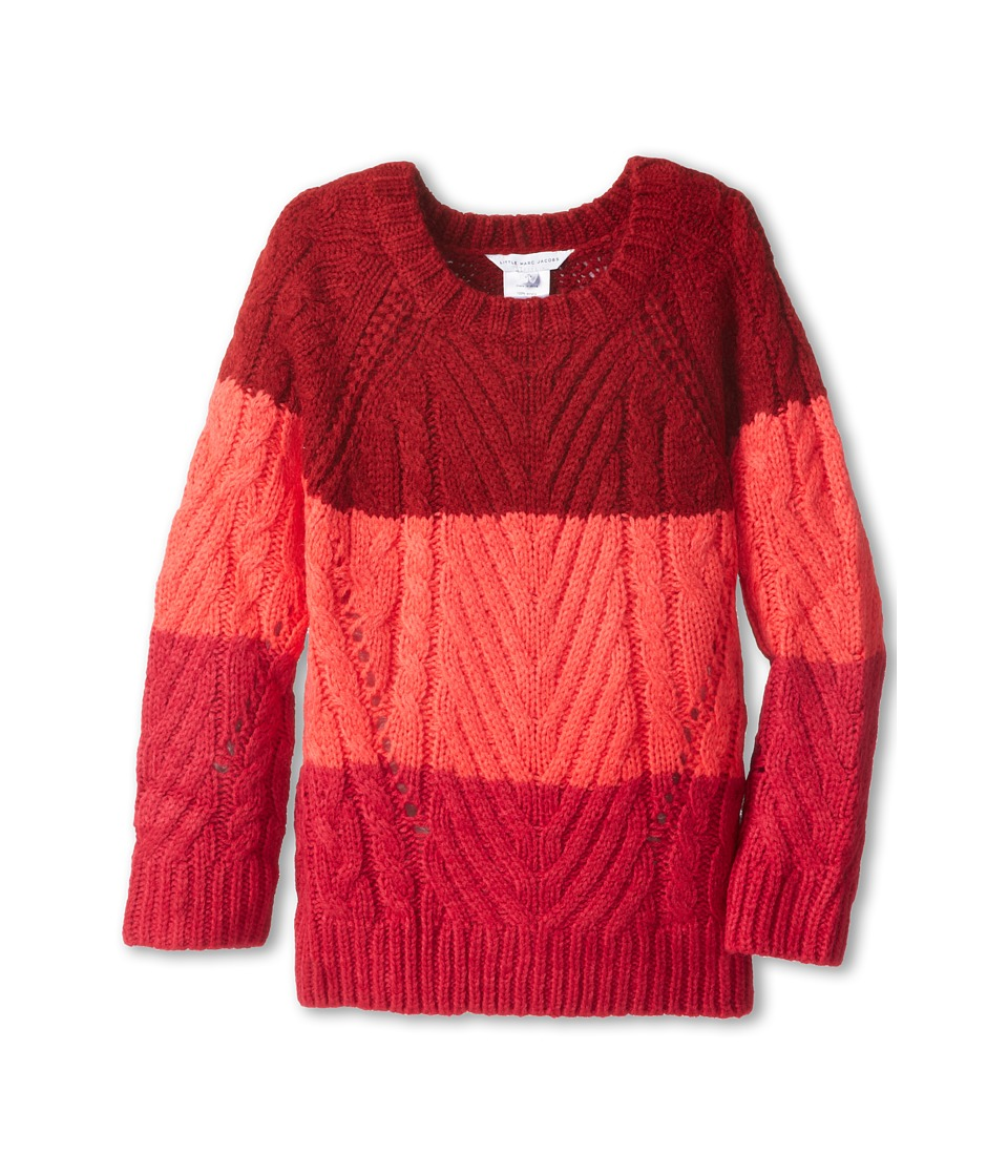 Little Marc Jacobs - Mini-Me Tricolor Sweater (Little Kids/Big Kids) (Fraise) Girl's Sweater