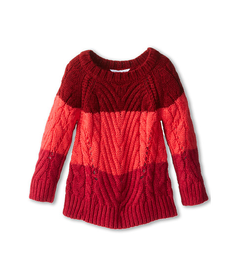Little Marc Jacobs - Mini-Me Tricolor Sweater (Toddler/Little Kids) (Fraise) Girl's Sweater