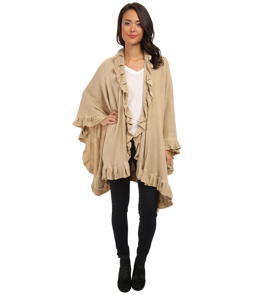 Echo Design - Ruffle Ruana (Camel) Women's Clothing