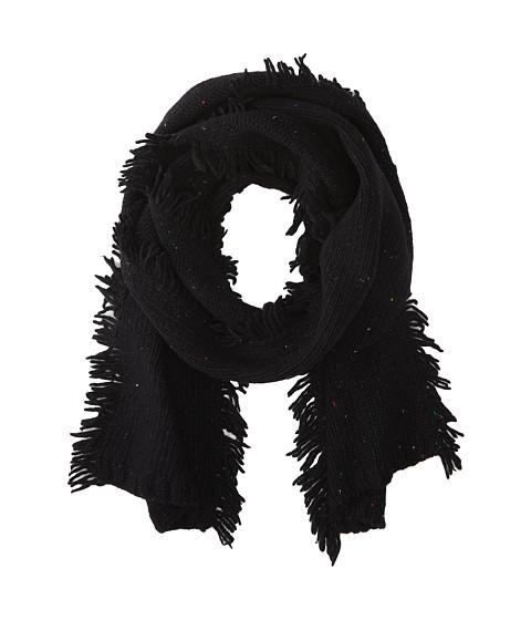 Echo Design - Nep Side Fringe Muffler (Black) Scarves