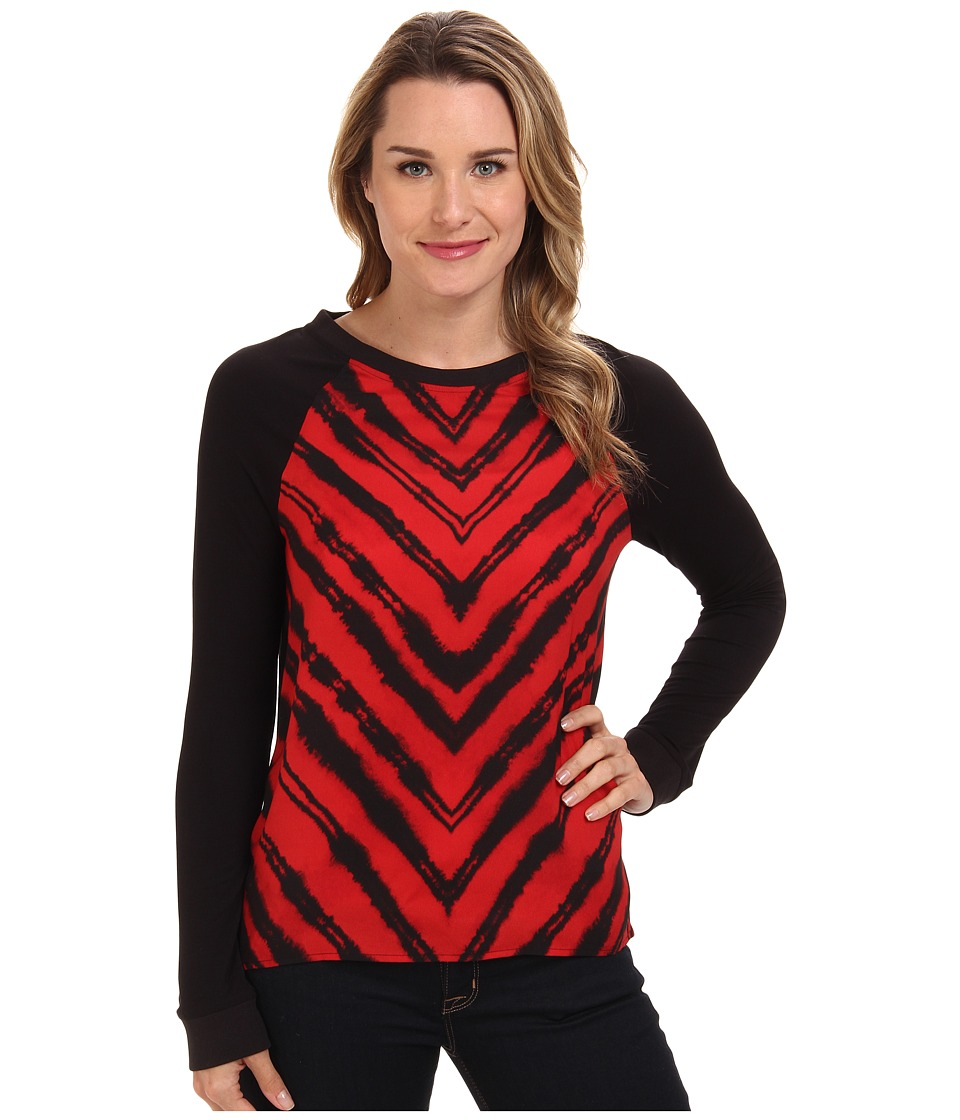 Kenneth Cole New York - Davine Knit (Chili Multi) Women's Long Sleeve Pullover