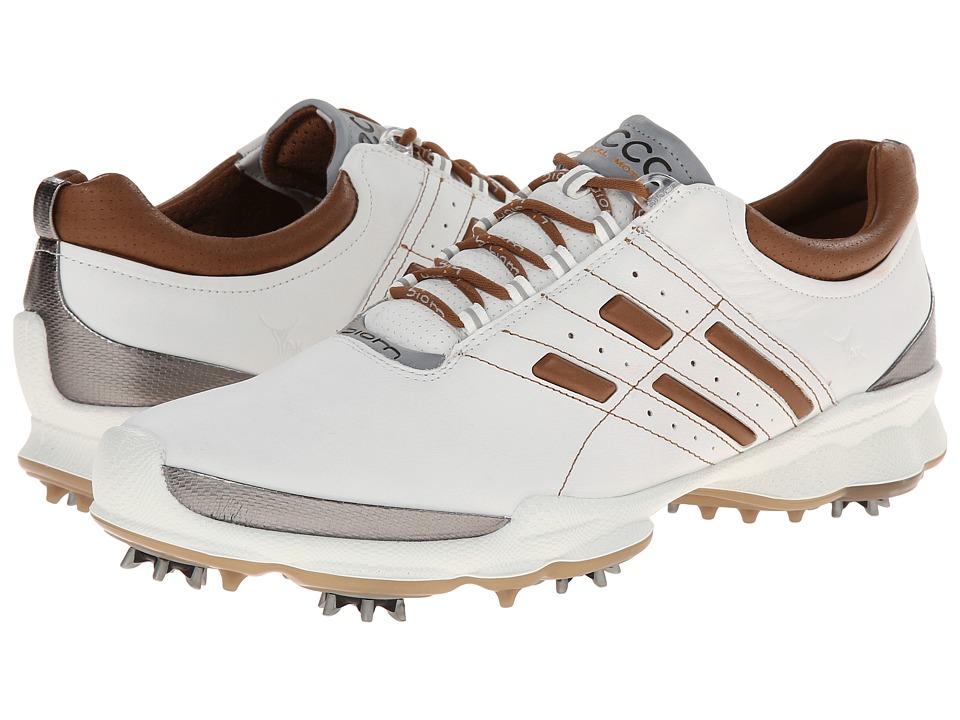 ECCO Golf - Biom Golf (White/Mineral) Men's Golf Shoes