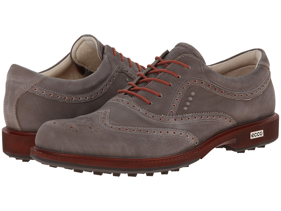 ECCO Golf - Tour Hybrid Wingtip (Dark Clay) Men's Golf Shoes