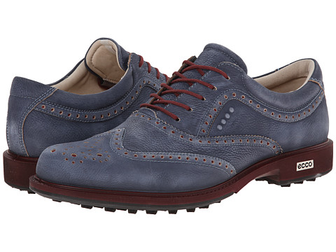 ECCO Golf - Tour Hybrid Wingtip (Marine/Port) Men
