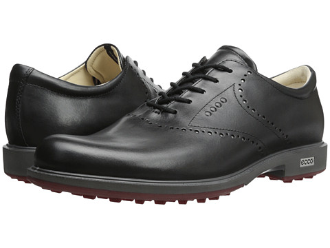 ECCO Golf - Tour Hybrid HYDROMAX (Black/Brick) Men's Golf Shoes
