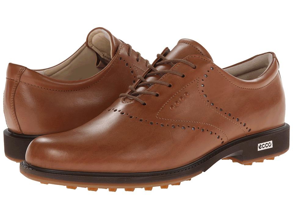 ECCO Golf - Tour Hybrid HYDROMAX (Whiskey/Orange) Men's Golf Shoes