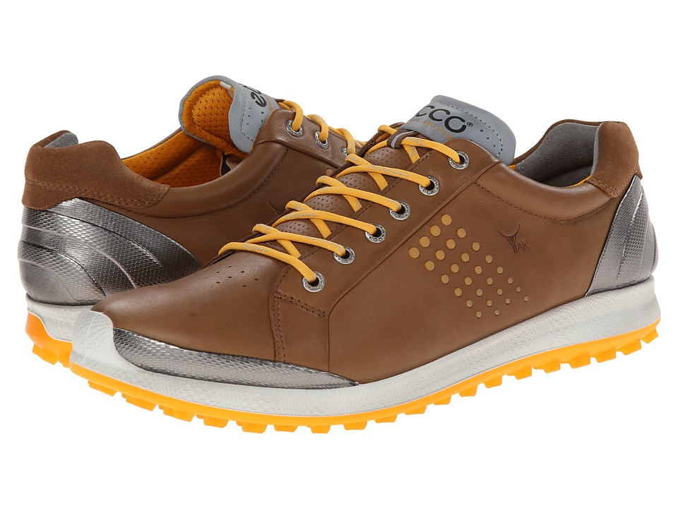 ECCO Golf - BIOM Hybrid 2 (Camel/Fanta) Men's Golf Shoes