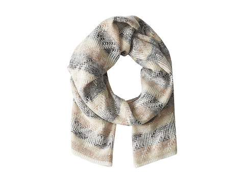 Echo Design - Fuzzy Houndstooth Oversized Muffler (Black Neutral) Scarves