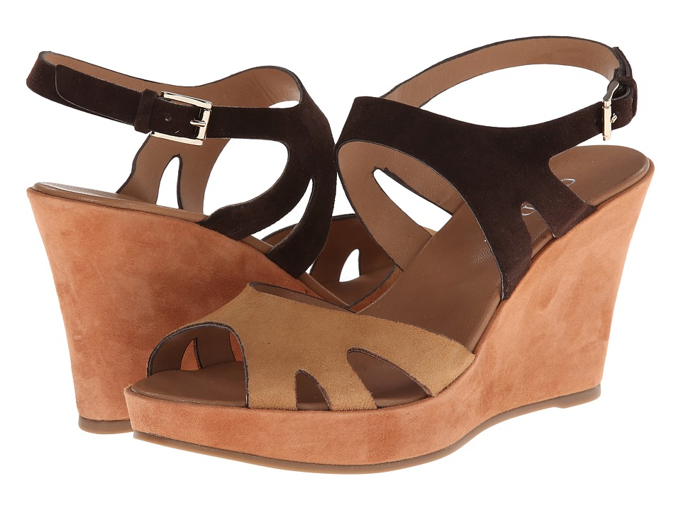 Cordani - Ludlow (Ebony/Camel) Women's Wedge Shoes